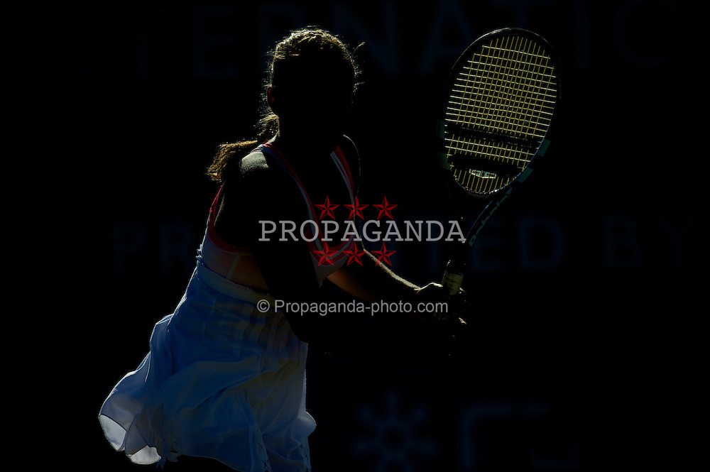 LIVERPOOL, ENGLAND - Sunday, June 20, 2010: Ana Bogdan (ROM) in action on day five of the Liverpool International Tennis Tournament at Calderstones Park. (Pic by David Rawcliffe/Propaganda)