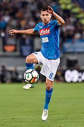 October 14, 2017 - Rome, Italy - Jorginho of Napoli during the Serie A match between Roma and Napoli at Olympic Stadium, Roma, Italy on 14 October 2017. (Credit Image: © Giuseppe Maffia/NurPhoto via ZUMA Press)