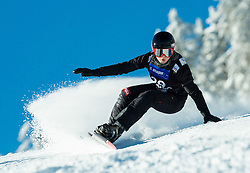 Gloria Kotnik of Slovenia competes in Qualification Run during Parallel Giant Slalom at FIS Snowboard World Cup Rogla 2015, on January 31, 2015 in Course Jasa, Rogla, Slovenia. Photo by Vid Ponikvar / Sportida