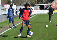 Stevenage forward Tyrone Marsh(10) warming up ahead of  the EFL Sky Bet League 2 match between Exeter City and Stevenage at St James' Park, Exeter, England on 23 January 2021.