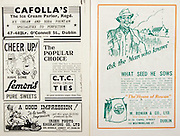 All Ireland Senior Hurling Championship Final,.Brochures,.01.09.1946, 09.01.1946, 1st September 1946, .Cork 7-5, Kilkenny 3-8, .Minor Dublin v Tipperary.Senior Cork v Kilkenny.Croke Park, ..Advertisements, Cafolla's The Ice Cream Parlor, Lemon's Pure Sweets, CTC Non-Crush Ties, Irish Photo Engraving Co Ltd, M. Rowan & Co Ltd Seed Growers & Seed Merchants,