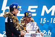 June 10-16, 2019: 24 hours of Le Mans. 8 Fernando Alonso, Toyota Gazoo Racing, TOYOTA TS050 - HYBRID , Shigeki Tomoyama, President, Toyota Gazoo Racing Company