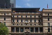 Open Sydney presented by Sydney Living Museuems. This event every year allows Sydneysiders to visit 40 of the city's most significant buildings and spaces across the CBD. External view of Customs House, Sydney.