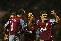 Photo: Andrew Unwin.<br />Sunderland v Aston Villa. The Barclays Premiership.<br />19/11/2005.<br />Aston Villa's Kevin Phillips (C) celebrates scoring his team's first goal.