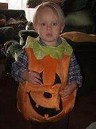 Talus Brubaker Book in a pumpkin costume