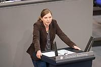 24 MAR 2017, BERLIN/GERMANY:<br /> Corinna Rueffer, MdB, B90/Gruene, waehrend der Bundestagesdebatte zum Teilhabebericht der Bundesregierung 2016, Plenum, Deutscher Bundestag<br /> IMAGE: 20170324-01-039<br /> KEYWORDS: Corinna Rüffer