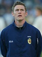 Fotball<br /> Landskamp Ullevaal Stadion 20.08.2003<br /> Norge v Skottland<br /> Gary Naysmith - Everton<br /> Foto: Morten Olsen, Digitalsport