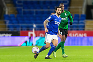 Cardiff City's Marlon Pack (21) passes forward during the EFL Sky Bet Championship match between Cardiff City and Birmingham City at the Cardiff City Stadium, Cardiff, Wales on 16 December 2020.