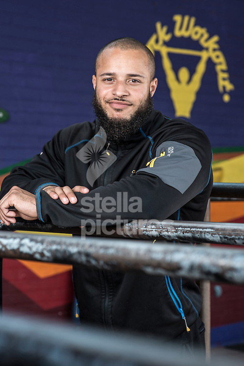 Former gang member turned business man Terroll Lewis pictured at his south London gym.<br /> Picture by Daniel Hambury/Stella Pictures Ltd +44 7813 022858<br /> 27/05/2015