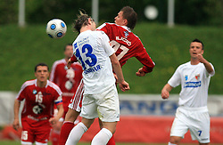 Leon Panikvar of Primorje vs Josip Ilicic  of Interblock  at 29th Round of Slovenian First League football match between NK Interblock and NK Primorje at ZAK Stadium, on April 20, 2009, in Ljubljana, Slovenia. (Photo by Vid Ponikvar / Sportida)