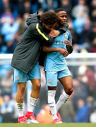 Leroy Sane and Raheem Sterling of Manchester City  - Mandatory by-line: Matt McNulty/JMP - 06/05/2017 - FOOTBALL - Etihad Stadium - Manchester, England - Manchester City v Crystal Palace - Premier League