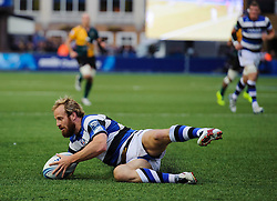Bath Full Back Nick Abendanon in action - mandatory by-line: Rogan Thomson/JMP - Tel: 07966 386802 - 23/05/2014 - SPORT - RUGBY UNION - Cardiff Arms Park, Wales - Bath Rugby v Northampton Saints - Amlin Challenge Cup Final.