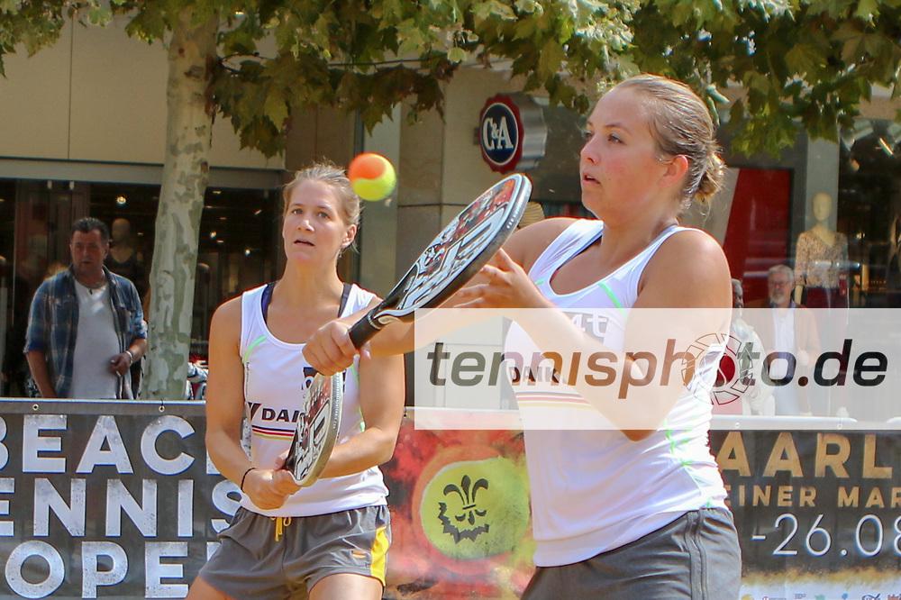 Pia Ziegler und Margarete Pelster, Deutsche Meisterschaften Beach-Tennis, Saarlouis, 24.08.2018, Foto: Claudio Gärtner