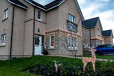 Christmas lights put up early in Midlothian, Loanhead, 24 November 2020