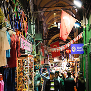 One of the many smaller streets on the outer edges of Istanbul's historic Grand Bazaar