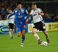 Fotball Tippeligaen 28.09.06 Rosenborg - Tromsø 2-1<br /> Lars Iver Strand og Roar Strand<br /> Foto: Carl-Erik Eriksson, Digitalsport