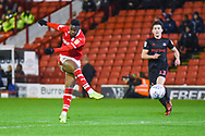 Mamadou Thiam of Barnsley (26) shoots during the EFL Sky Bet League 1 match between Barnsley and Sunderland at Oakwell, Barnsley, England on 12 March 2019.