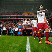 Galatasaray's Wesley Sneijder (2ndR) during their Turkish Superleague soccer match Galatasaray between Mersin Idman Yurdu at the AliSamiYen Spor Kompleksi at Aslantepe in Istanbul Turkey on Saturday 06 April 2013. Photo by Aykut AKICI/TURKPIX