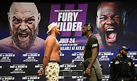 """(R) Deontay """"The Bronze Bomber"""" Wilder face off with with Tyson Fury at a press conference Tuesday, Los Angeles, CA.USA. June 15,2021<br /> The two will fight for a 3rd time on Saturday, July 24, headlining a pay-per-view event live from T-Mobile Arena in Las Vegas NV  (Photo by Gene Blevins)"""