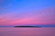 View of Ile Bonaventure in the Atlantic Ocean <br />Ile Bonaventure<br />Quebec<br />Canada