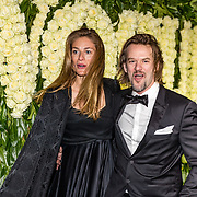NLD/Amsterdam//20170309 - 5 jarig bestaan Vogue, Jasper Krabe en partner Annemarieke van Drimmelen
