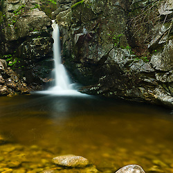 Kinsman Falls on Cascade Brook in New Hampshire's Franconia Notch State Park.