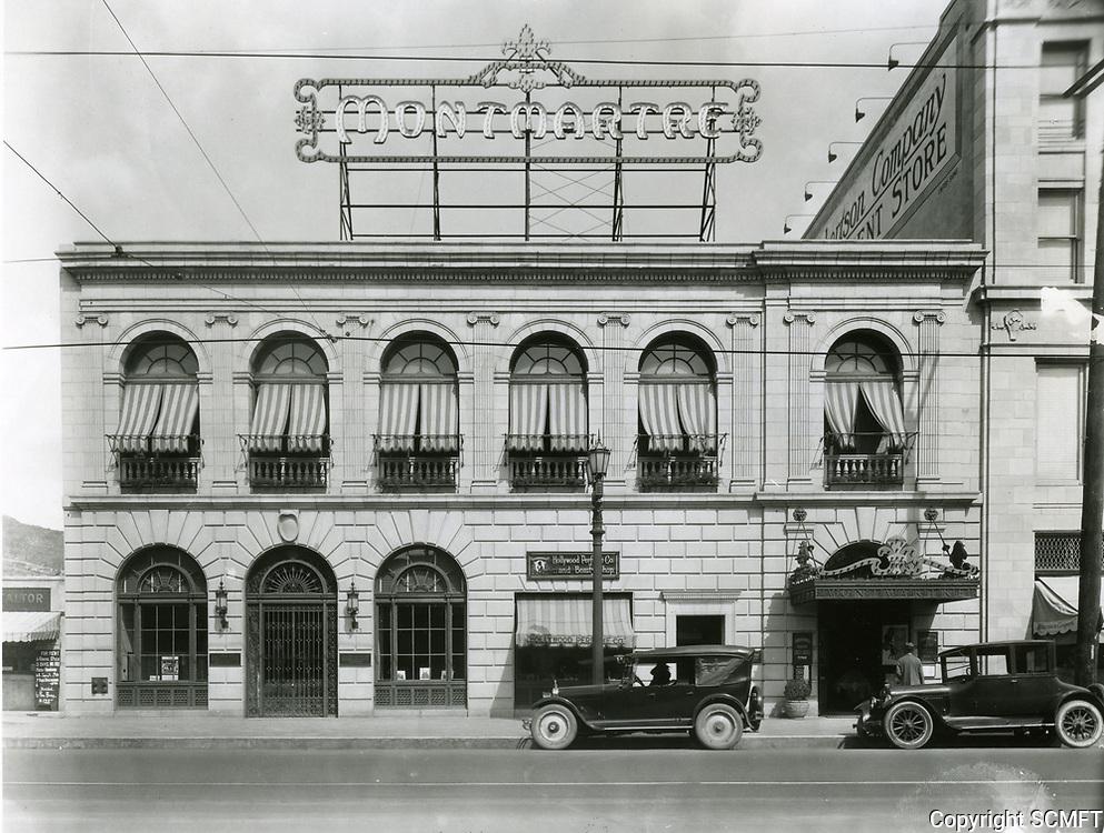 1924 Cafe Montmartre on Hollywood Blvd.