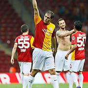 Galatasaray's Johan ELMANDER celebrate his goal during their Turkish Super League soccer match Galatasaray between Samsunspor at the Turk Telekom Arena at Seyrantepe in Istanbul Turkey on Sunday, 18 September 2011. Photo by TURKPIX