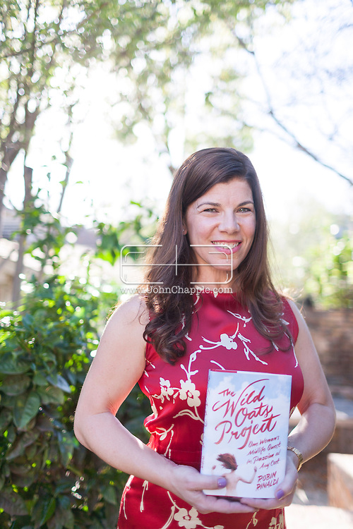 """March 12, 2015. Los Angeles, California.  Author Robin Rinaldi, who has written a memoir """"The Wild Oats Project"""" about how she spent a year in an open marriage, having sex with various different men, as a way of finding sexual fulfillment as a woman.<br /> Photo Copyright John Chapple / www.JohnChapple.com /"""