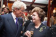 CHRISTOPHER BALFOUR; THE DUCHESS OF RUTLAND, Book launch for ' Daughter of Empire - Life as a Mountbatten' by Lady Pamela Hicks. Ralph Lauren, 1 New Bond St. London. 12 November 2012.