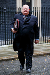 © Licensed to London News Pictures. 02/12/2014. LONDON, UK. Communities Secretary, Eric Pickles attending to a cabinet meeting on Downing Street on Tuesday, 2 December 2014. Photo credit: Tolga Akmen/LNP