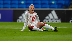 CARDIFF, WALES - Tuesday, April 13, 2021: Denmark's Stine Larsen during a Women's International Friendly match between Wales and Denmark at the Cardiff City Stadium. (Pic by David Rawcliffe/Propaganda)