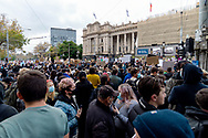 A general view of the front of Parliament House on 06 June, 2020 in Melbourne, Australia. This event was organised to rally against aboriginal deaths in custody in Australia as well as in unity with protests across the United States following the killing of an unarmed black man George Floyd at the hands of a police officer in Minneapolis, Minnesota. (Photo by Mikko Robles/ Speed Media)