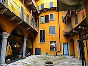 Arco, Trentino, Italy stucco buildings in the village centre