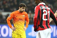 """Delusione Lionel Messi Barcellona.Milano 20/02/2013 Stadio """"S.Siro"""".Football Calcio UEFA Champions League 2012/13.Milan vs Barcellona.Foto Insidefoto Paolo Nucci."""