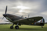 Spitfires are brought out to the flight line - The Duxford Battle of Britain Air Show is a finale to the centenary of the Royal Air Force (RAF) with a celebration of 100 years of RAF history and a vision of its innovative future capability.