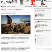 """Screengrab of """"Mali War"""" published in Vrij Nederland"""