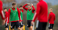 CARDIFF, WALES - Wednesday, September 2, 2020: Wales' captain Gareth Bale adjusts his hair during a training session at the Vale Resort ahead of the UEFA Nations League Group Stage League B Group 4 match between Finland and Wales. (Pic by David Rawcliffe/Propaganda)