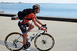 Kristabel Doebel-Hickok (USA) on the seafront at Deakin University Elite Women Cadel Evans Road Race 2019, a 113 km road race starting and finishing in Geelong, Australia on January 26, 2019. Photo by Sean Robinson/velofocus.com