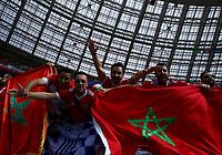 morocco supporters<br /> Moscow 20-06-2018 Football FIFA World Cup Russia  2018 <br /> Portugal - Morocco / Portogallo - Marocco <br /> Foto Matteo Ciambelli/Insidefoto