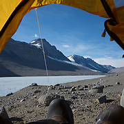 A tent with a view.
