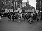 Housewives march in protest at the introduction of Turnover Tax, a new sales tax. .14.11.1963