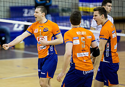 Andrej Flajs of ACH during volleyball match between ACH Volley and OK Calcit Volleyball in 10th Round of Slovenian National Championship 2014/15, on March 11, 2015 in Arena Tivoli, Ljubljana, Slovenia. Photo by Vid Ponikvar / Sportida