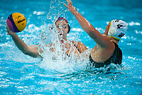 London, England, 05-05-12. Melissa SEIDMANN (USA) and Holly LINCOLN SMITH (AUS) in the VIsa Water Polo Invitational. Part of the London Prepares Olympic preparations.
