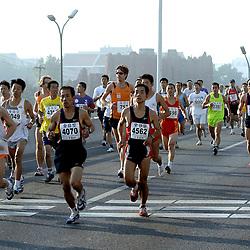 21-10-2007 ATLETIEK: ANA BEIJING MARATHON: BEIJING CHINA<br /> De Beijing Olympic Marathon Experience georganiseerd door NOC NSF en ATP is een groot succes geworden / Marko Koers<br /> ©2007-WWW.FOTOHOOGENDOORN.NL