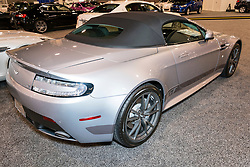 CHARLOTTE, NORTH CAROLINA - NOVEMBER 20, 2014: Aston Martin Vantage N430 on display during the 2014 Charlotte International Auto Show at the Charlotte Convention Center.