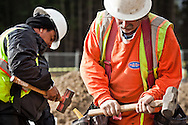 Construction workers at the Port Gamble S'Klallam Tribe, one of many developments in western Washington state, funded by the tribal nations of WA.