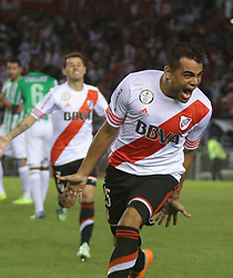 10.12.2014, River Plate Stadium, Buenos Aires, ARG, Südamerika Cup 2014, River Plate vs Atletico Nacional de Medellin, im Bild River Plate football player Gabriel Mercado celebrates the first goal // during the 2nd final match of Southamerican Cup between River Plate vs Atletico Nacional and Medellin at the River Plate Stadium in Buenos Aires, Argentina on 2014/12/10. EXPA Pictures © 2014, PhotoCredit: EXPA/ Eibner-Pressefoto/ Cezaro<br /> <br /> *****ATTENTION - OUT of GER*****