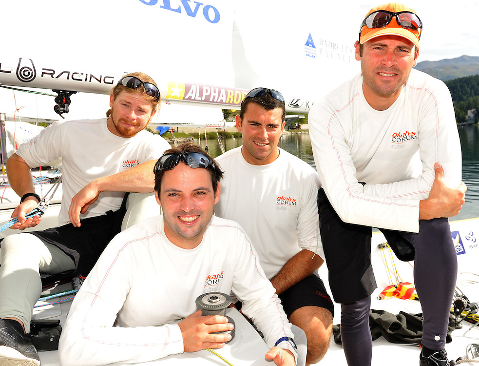 Team Oklays-Corum of Skipper Eric Monnin, Marc Monnin, Jean-Claude Monnin and Julien Falxa.Photo: Chris Davies/WMRT