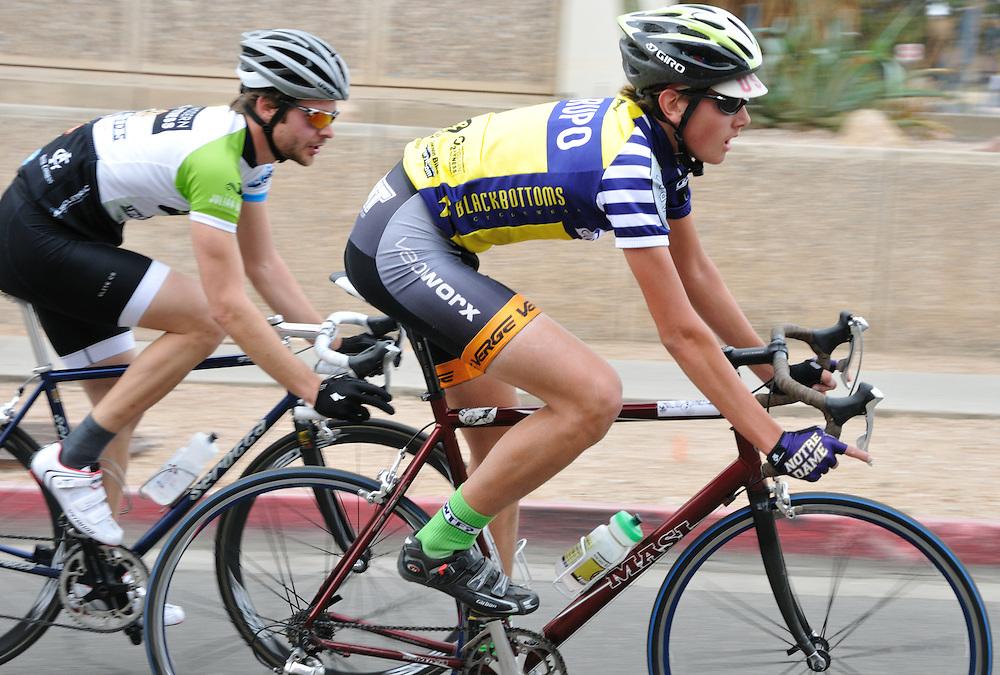Riders in the 2011 UA Criterium bicycle race, Tucson, Arizona. Bike-tography by Martha Retallick.